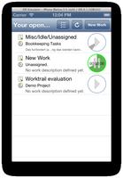 work list on iphone