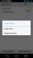 Work Context Menu