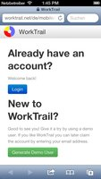 iPhone: Login to WorkTrail